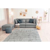 Westfield Home Carmire Gesso Grey Area Rug - 5'3 x 7'2