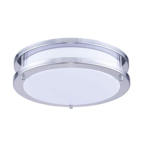 Ivy Court LED Surface Mount White & Nickel Finish Acrylic Lens 1050LM