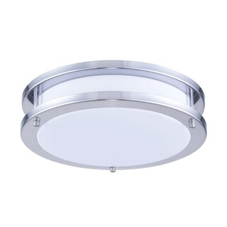 Ivy Court LED Surface Mount White & Nickel Finish Acrylic Lens 1050LM