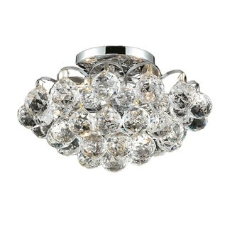 Ivy Court 4-Light 12 Inch Chrome Flush Mount