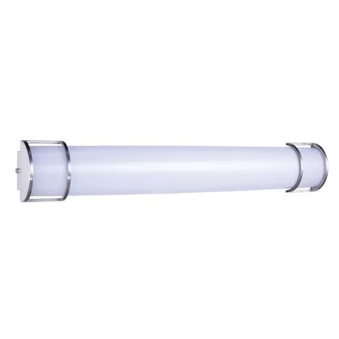 Ivy Court LED Vanity L:36 W:5.9 H:4.3 26W 2150LM 3000K White & Nickel Finish Acrylic Lens
