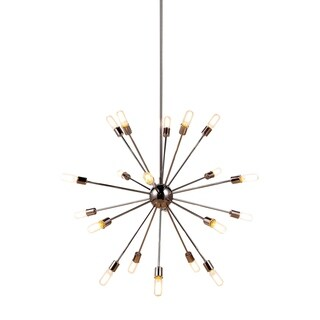 Ivy Court Finished Steel 20-light 40-inch Chandelier
