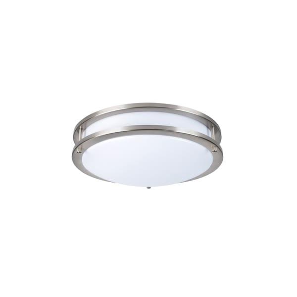Juniper Supply LED Double Ring Ceiling Flush, 5000K, 120°, CRI80, 20W