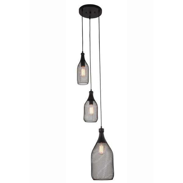 Ivy Court 3-Light Black Pendant