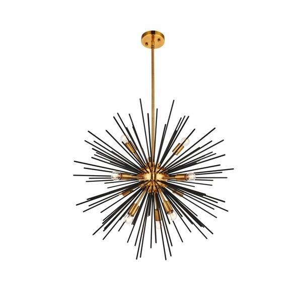 Ivy Court 10-Light 26 Inch Light Antique Brass Pendant