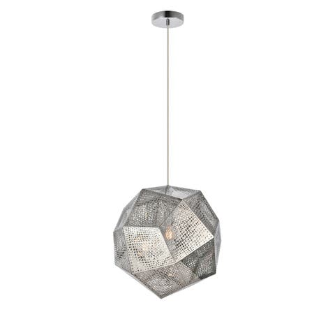 Royce Edge Collection Pendant D:19in H:18in Lt:1 Chrome Finish