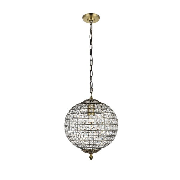 Ivy Court 1-Light 12 Inch Antique Bronze Pendant