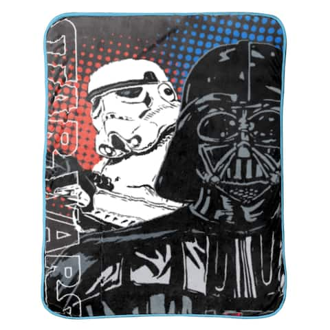 Star Wars Classic Grid 2 Coral Fleece Throw