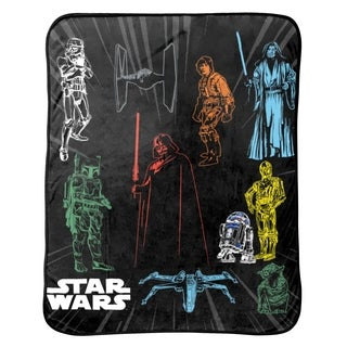 "Star Wars Plush Throw, 46 x 60"""