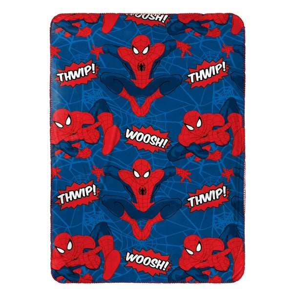 Marvel Spiderman Plush Travel Blanket