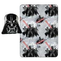 "Star Wars Darth Vader Nogginz Character Pillow with 40"" x 50"" Travel Blanket Gift Set"