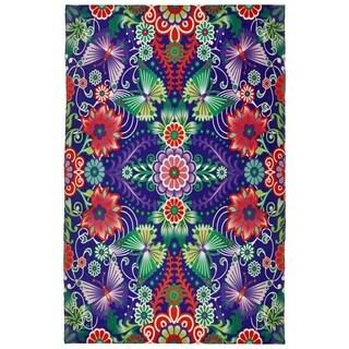 Catalina Estrada Lola Floral Purple/ Multi Rug - 5'x 8'