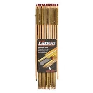 Lufkin Extension Rule 5/8 in. W x 6 ft. L Wood