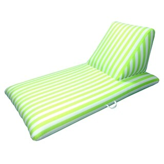 Drift and Escape Chaise Lounge - Lime Green Luxury Fabric Float - Morgan Dwyer Signature Series