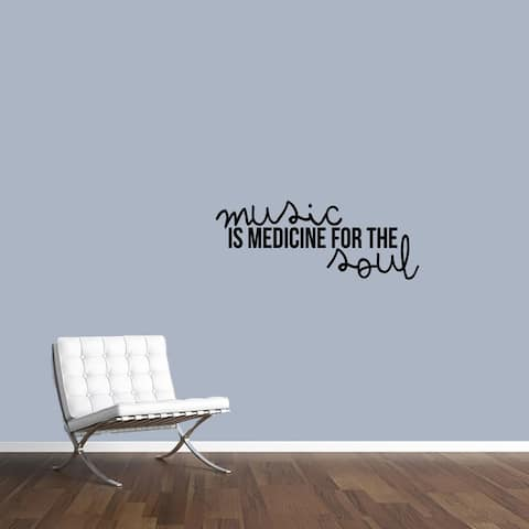 Music Is Medicine For The Soul Wall Decal