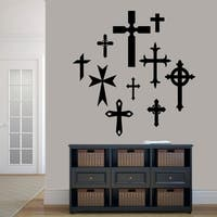 Set of Crosses Wall Decals
