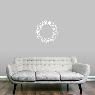 Snowflake Wreath Wall Decal