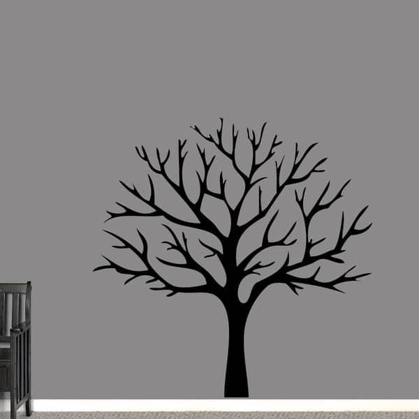 Large Black Tree Silhouette Wall Decal Vinyl Wall Art Sticker For Bedroom Living Room Tv Background Wall Decor Wallsymbol Com