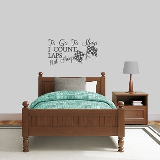 To Go To Sleep I Count Laps Wall Decal