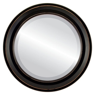 Link to Newport Framed Round Mirror in Rubbed Black Similar Items in Mirrors