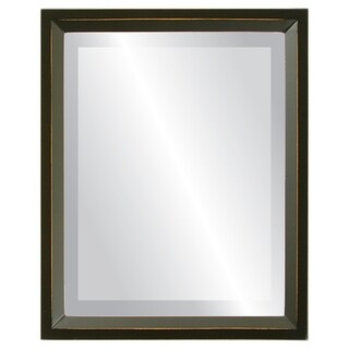 Huntington Framed Rectangle Mirror in Rubbed Black