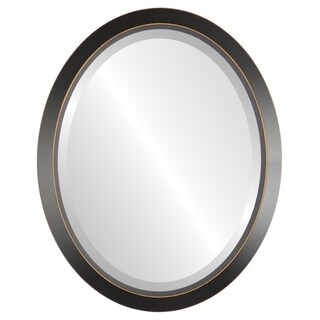Regatta Framed Oval Mirror in Rubbed Black