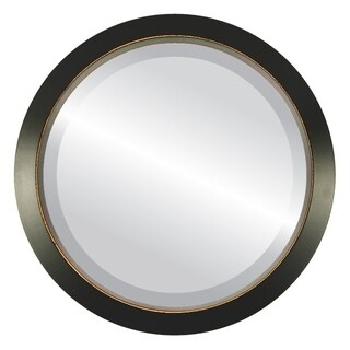 Regatta Framed Round Mirror in Rubbed Black (2 options available)