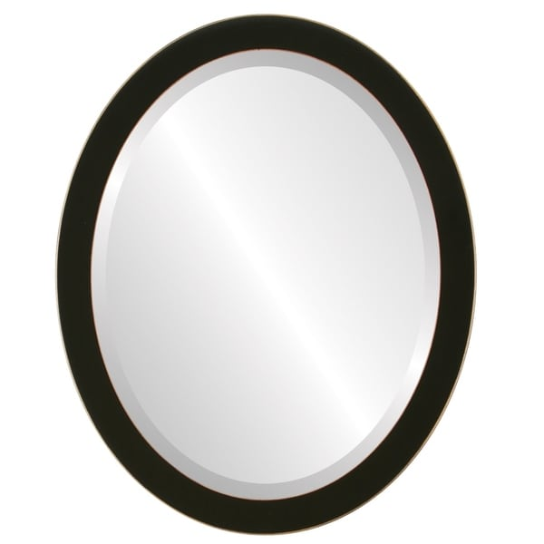 Shop Vienna Framed Oval Mirror in Rubbed Black - Free Shipping Today ...