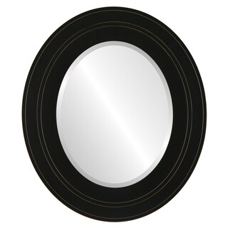 Palomar Framed Oval Mirror in Rubbed Black (More options available)