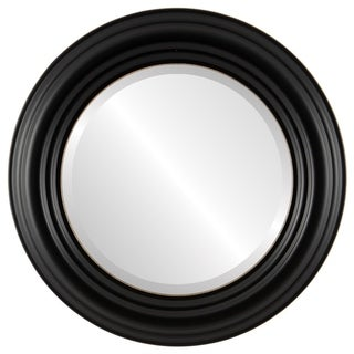 Regalia Framed Round Mirror in Rubbed Black