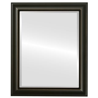 Messina Framed Rectangle Mirror in Rubbed Black