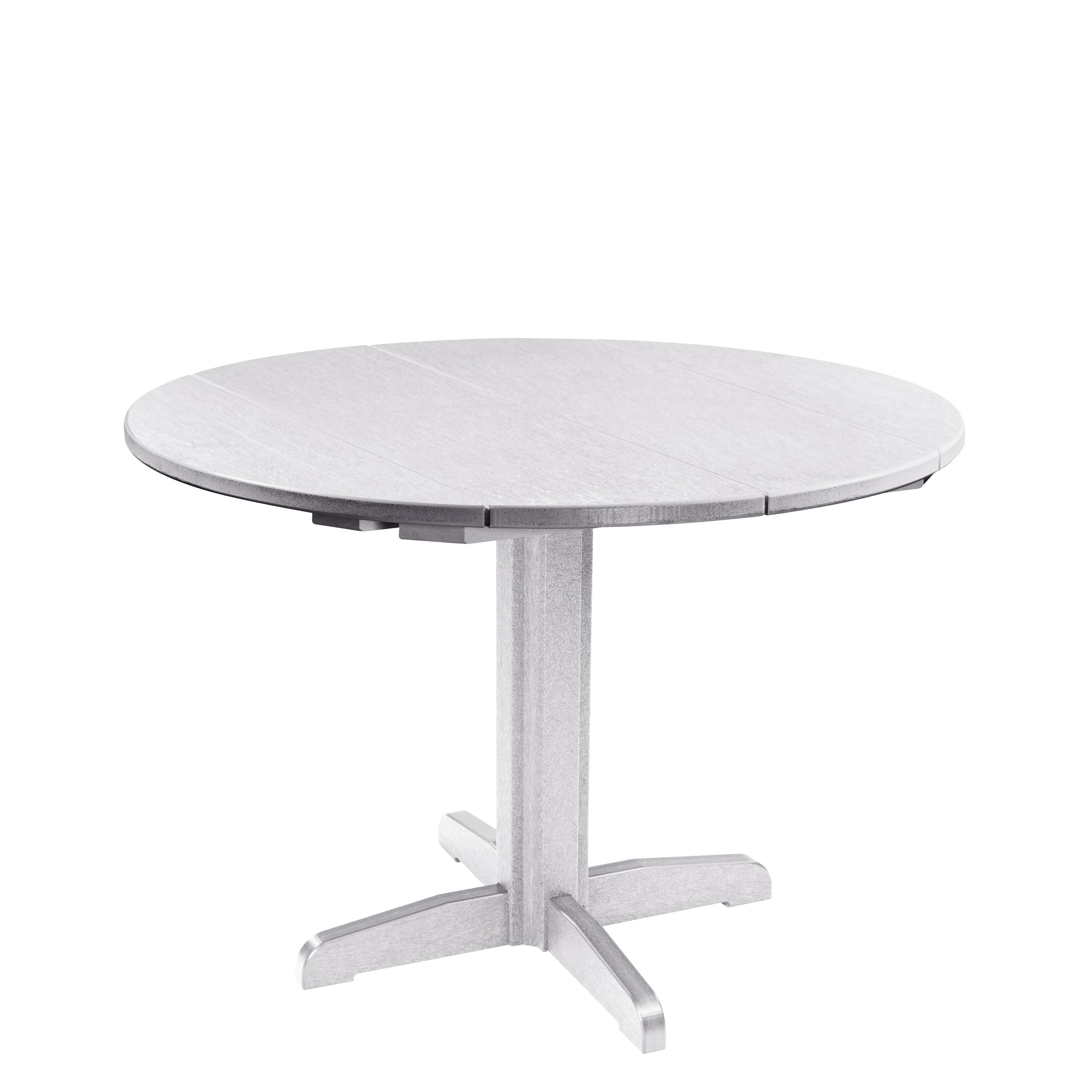 C R Plastics Generation 40 Round Table Top W 30 Dining Pedestal Base