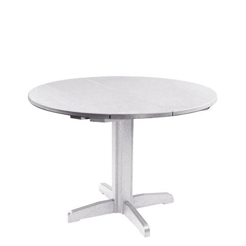 "C.R. Plastics Generation 40"" Round Table Top w/ 30"" Dining Pedestal Base"