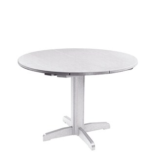 "C.R. Plastics Generation 40"" Round Table Top w/ 30"" Dining Pedestal Base"