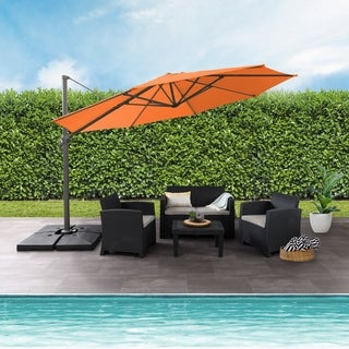 Link to North Bend Deluxe Offset Patio Umbrella by Havenside Home Similar Items in Patio Umbrellas & Shades