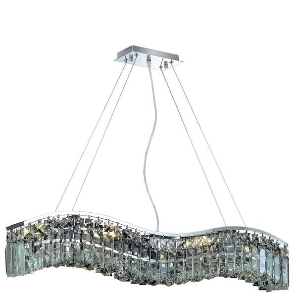 Ivy Court 6-Light 30 Inch Chrome Chandelier