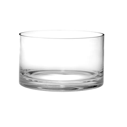 """Majestic Gifts Quality Glass Straight Sided Serving/ Salad Bowl, 10""""d"""