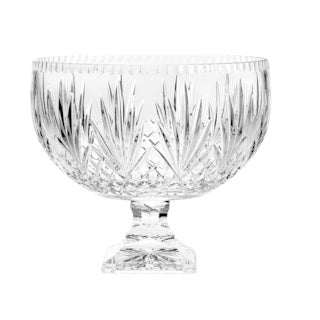 """Majestic Gifts Hand Cut Crystal Punch Bowl, 12""""D, 270 oz."""