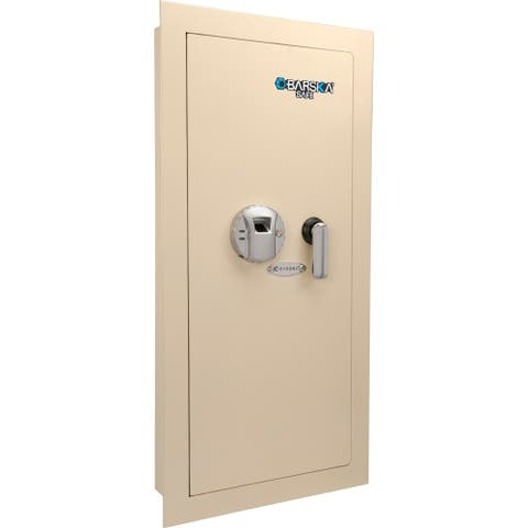 Barska Large Biometric Wall Safe Left Opening