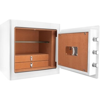 Barska White Keypad Jewelry Safe Tan Interior