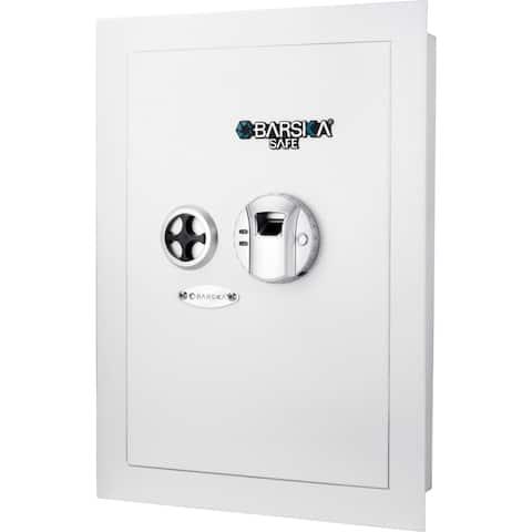 Barska White Biometric Wall Safe