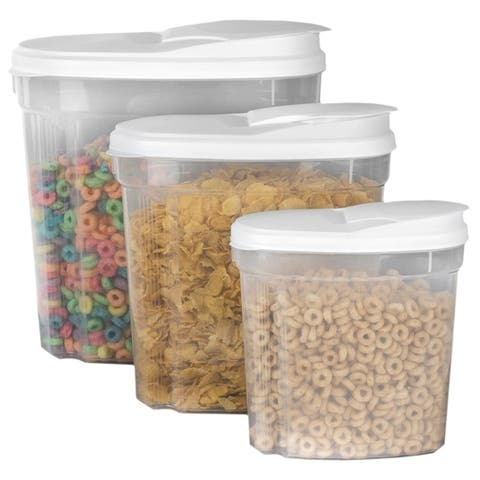 Sweet Home Collection 3-Piece Cereal/Dry Food Container Set