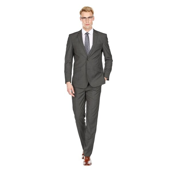 Gino Vitale Sharkskin 2 Piece Slim Fit Suit