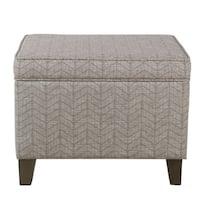 Homepop Medium Storage Ottoman - Textured Gray
