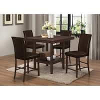 Best Master Furniture 5 Pcs Espresso Counter Height Set
