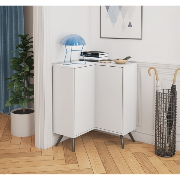 Merveilleux Bestar Small Space Krom Corner Storage Unit