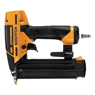 Bostitch Smart Point 18 Ga. Pneumatic Brad Nailer Kit 120 psi Black / Yellow