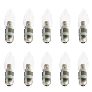 Juniper Supply LED S30C35 E26 Light Bulbs 10 Pack, 3000K 180°, CRI80, 4W