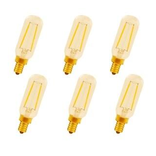 Juniper Supply LED T8 Amber Glass Tube Lights 6 Pack, 2200K, 360°, CRI80, 2W