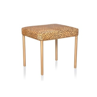 Jenner Accent Stool Cheetah Hide